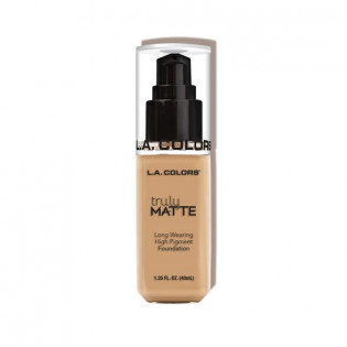 "TRULY MATTE FOUNDATION ""NATURAL"" L.A COLORS"